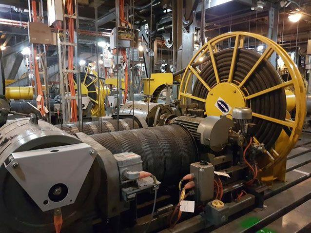 The 50-year-old 'engine' on the grid deck backstage at the Sydney Opera House's Joan Sutherland Theatre will be ripped out and replaced during a seven-month renewal costing $45 million. Photo: AAP