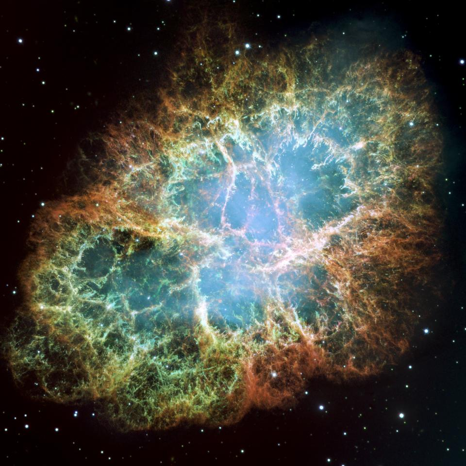 Hubble is behind incredible shots such as this image of the Crab nebula (Hubble)