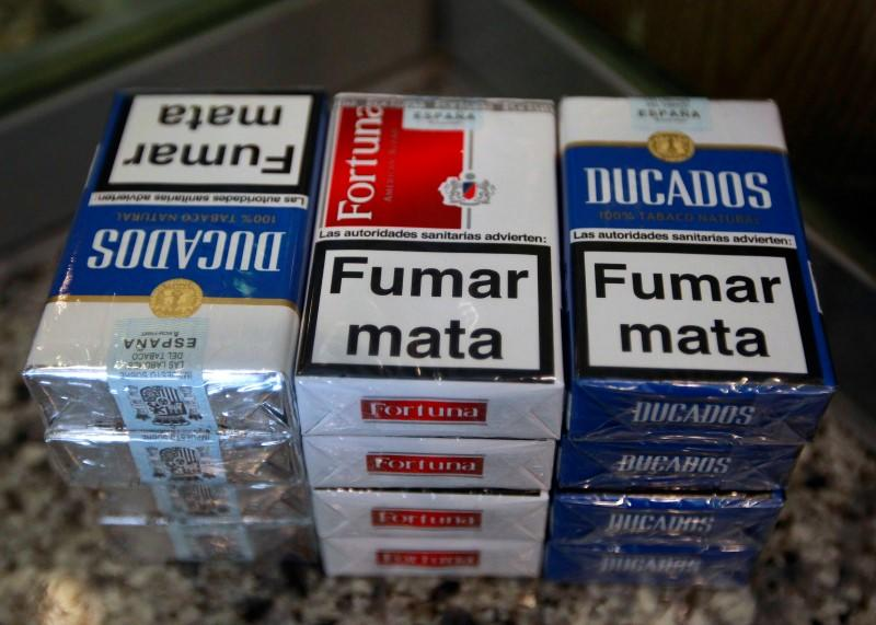 Cigarette packs of Imperial Tobacco are pictured at a tobacco store in  Madrid b1d4c1f65de