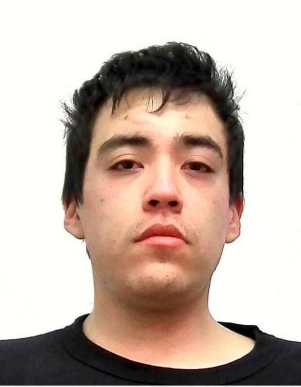 A Canada-wide warrant for second-degree murder was issued for Antoine Joel Gros Ventre Boy, who was located in downtown Calgary on Sunday.  (Calgary Police Service - image credit)