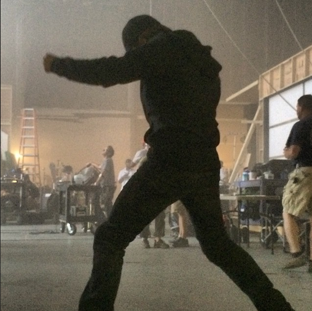 """Sebastian Stan, back as Bucky Barnes/Winter Soldier, posted this image on Instagram of him on the soundstage in Atlanta with the caption: """"Having a weekend!"""""""