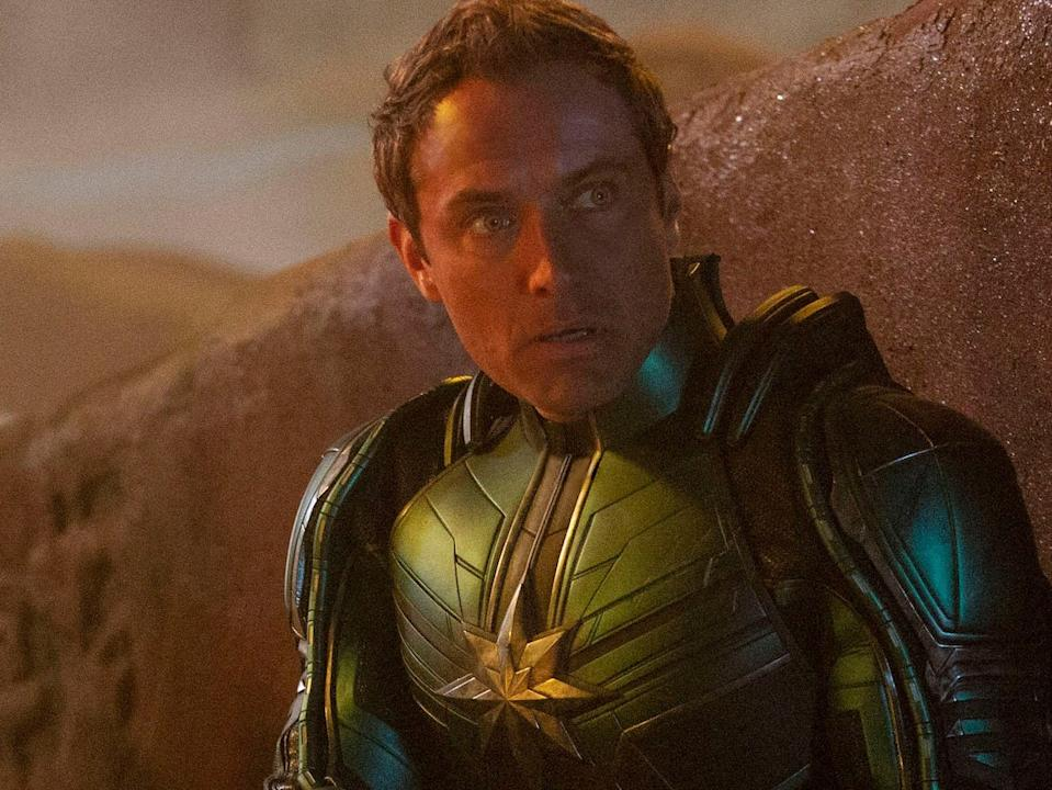 """Jude Law in """"Captain Marvel."""""""