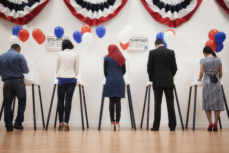 Democratic voters appear to be driving on a one-lane road. (Getty Images)