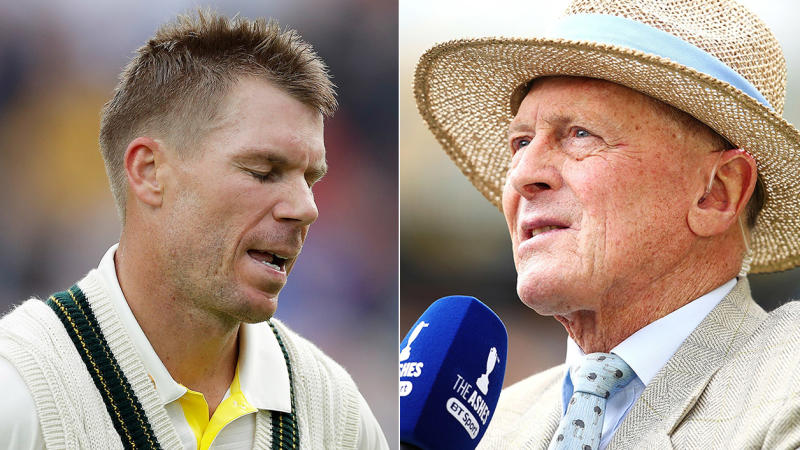 David Warner (pictured left) and Geoffrey Boycott (pictured right). (Getty Images)