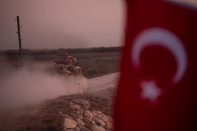 A Turkish armored vehicle prepare to cross the border into Syria on Oct. 9, 2019 in Akcakale, Turkey. (Photo: Burak Kara/Getty Images)