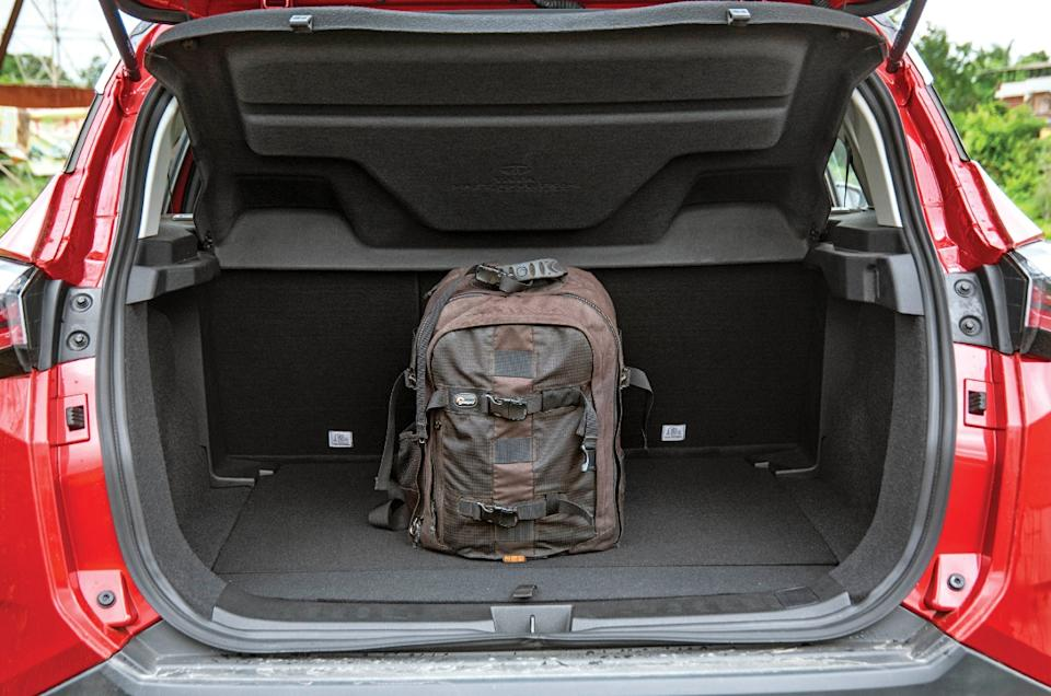 425-litre boot is reasonably spacious; there's storage below boot floor too.