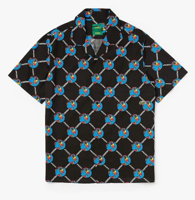 """<p><strong>Lacoste</strong></p><p>lacoste.com</p><p><strong>$158.00</strong></p><p><a href=""""https://go.redirectingat.com?id=74968X1596630&url=https%3A%2F%2Fwww.lacoste.com%2Fus%2Flacoste%2Fmen%2Fclothing%2Fbutton-down-shirts%2Funisex-live-chinatown-market-collaboration-print-shirt%2FCH0117-51.html&sref=https%3A%2F%2Fwww.esquire.com%2Fstyle%2Fmens-fashion%2Fg33995426%2Fbest-new-menswear-september-11-2020%2F"""" rel=""""nofollow noopener"""" target=""""_blank"""" data-ylk=""""slk:Buy"""" class=""""link rapid-noclick-resp"""">Buy</a></p><p>Desperately cling to these last few days of summer with everything you have. (Or, like, cop this shirt.) </p>"""