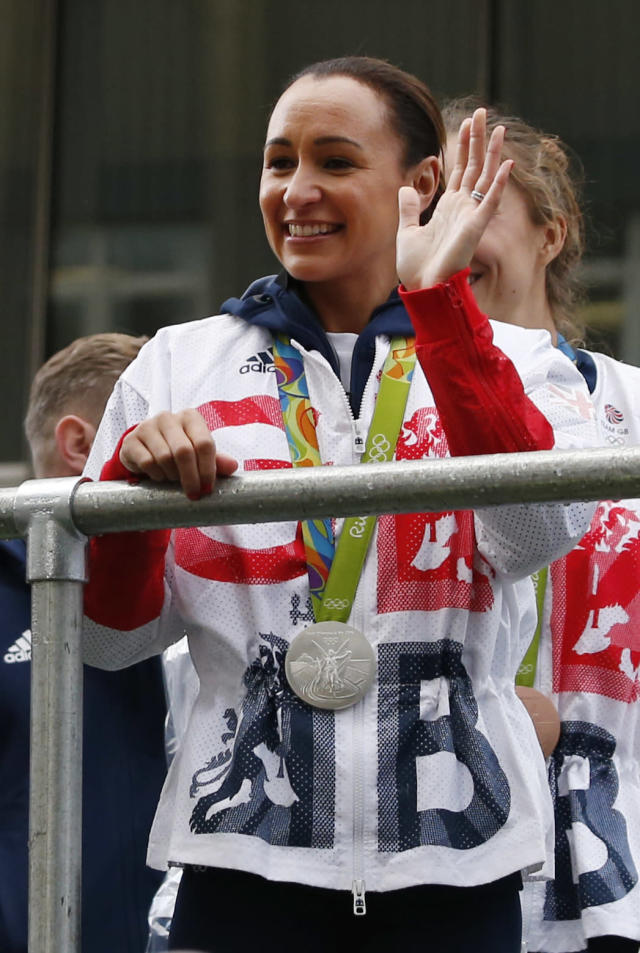 Britain Olympics - Team GB Homecoming Parade - Manchester - 17/10/16 Jessica Ennis-Hill of Britain during the parade Action Images via Reuters / Ed Sykes Livepic EDITORIAL USE ONLY.