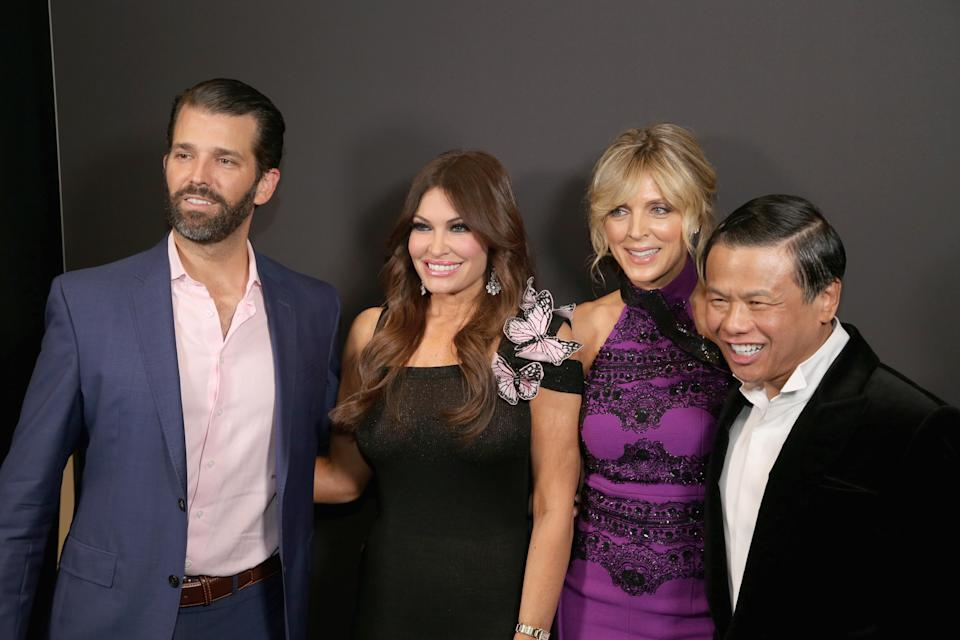 Trump and Guilfoyle posed with Marla Maples, the president's second wife. (Photo: Manny Carabel/Getty Images)