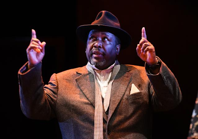 Death Of A Salesman star Wendell Pierce apologised to the crowds for what happened (PA)