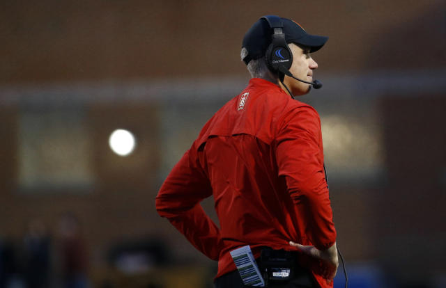 Maryland's DJ Durkin has been placed on administrative leave. (AP Photo/Patrick Semansky, File)