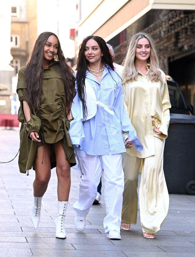 Little Mix stars Leigh-Anne Pinnock, Jade Thirlwall and Perrie Edwards (Photo: Karwai Tang via Getty Images)