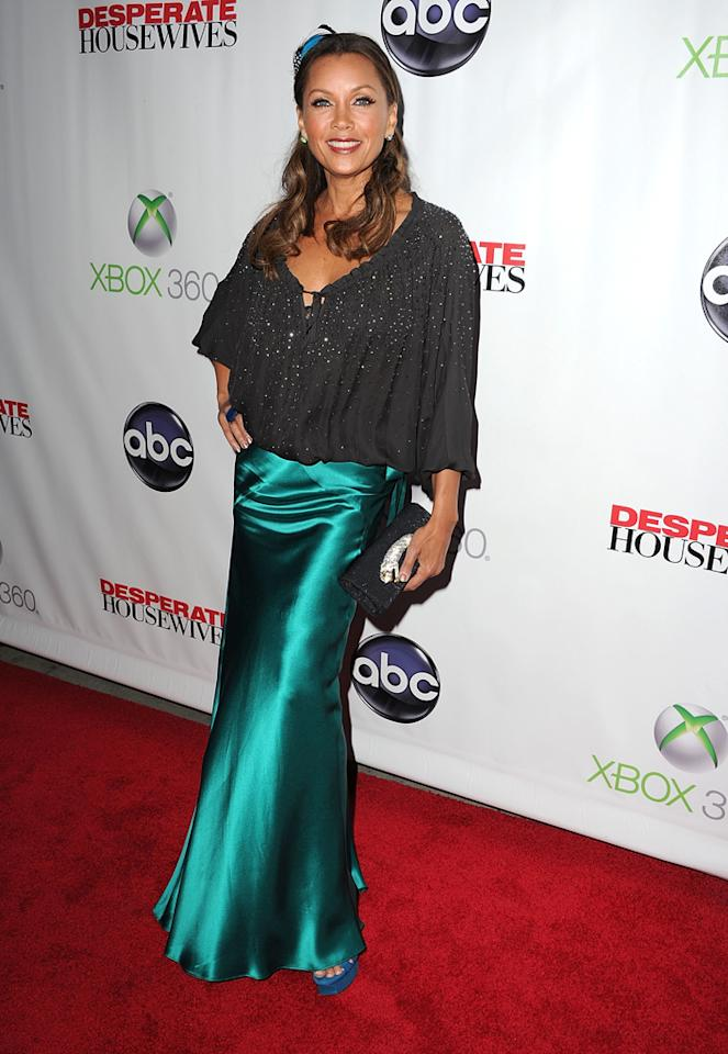 "Vanessa Williams attends the ""<a target=""_blank"" href=""http://tv.yahoo.com/desperate-housewives/show/36265"">Desperate Housewives</a>"" Series Finale Party at the W Hollywood on April 29, 2012 in Hollywood, California."