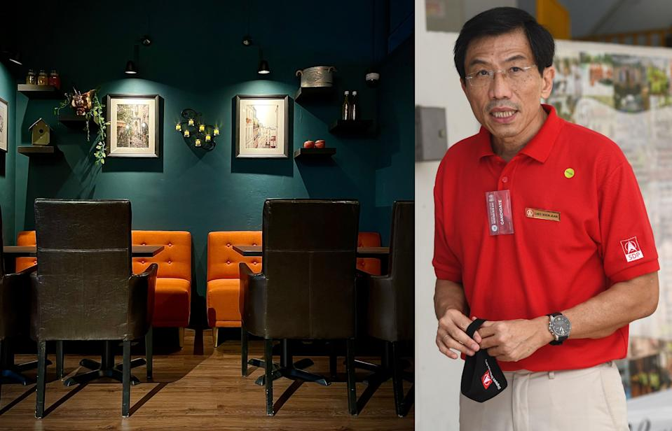 Singaporean opposition politician and leader of the Singapore Democratic Party, Chee Soon Juan, and his wife Huang Chih Mei are opening a cafe called Orange & Teal in Queenstown on 25 June 2021. (Photos: Chee Soon Juan, Getty)