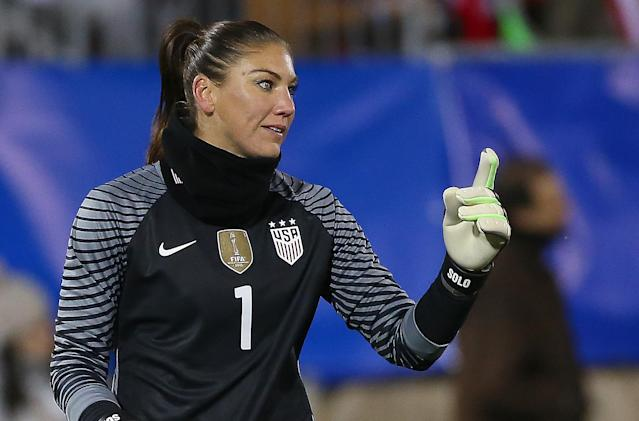 Hope Solo believes that her voice is necessary for the USWNT to win its equal-pay fight. (Getty)
