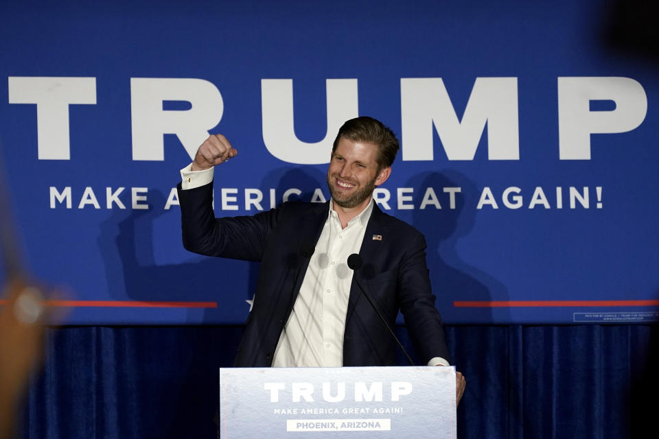 Eric Trump, son of President Donald Trump controversial refuting election results