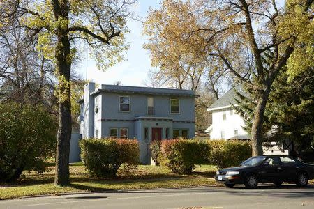 The childhood home of Bob Dylan, winner of the 2016 Nobel Prize for Literature, is seen in the town of Hibbing