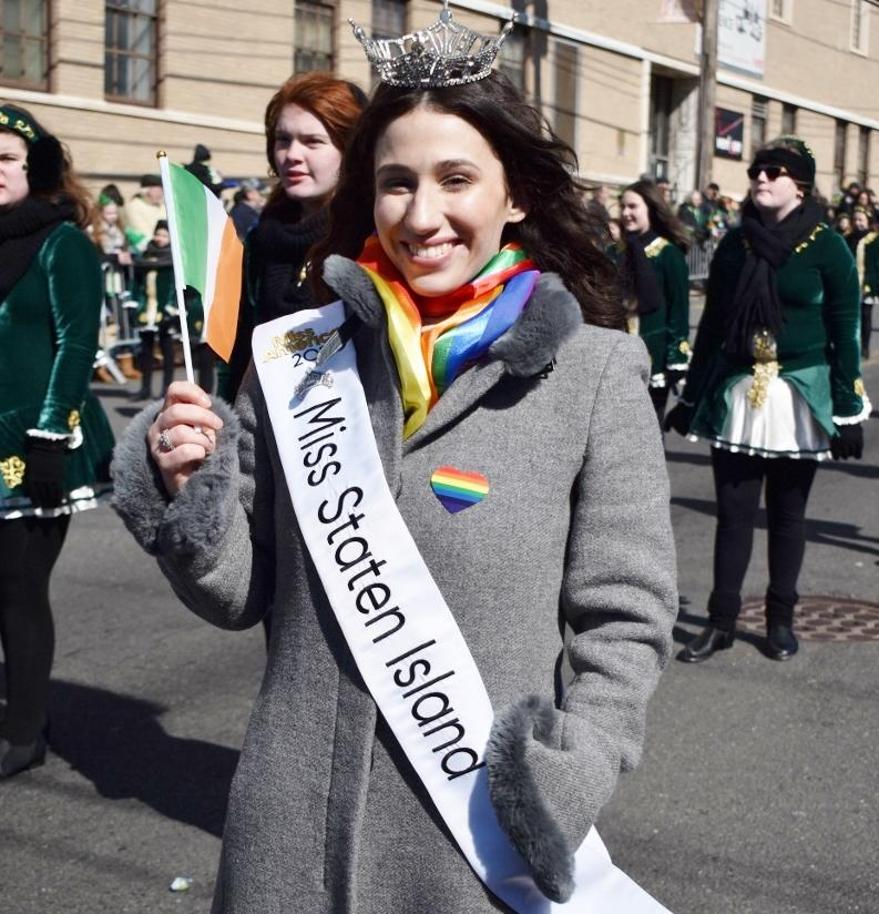 Miss Staten Island Madison L'Insalata was barred from marching in a St. Patrick's Day parade on Sunday.