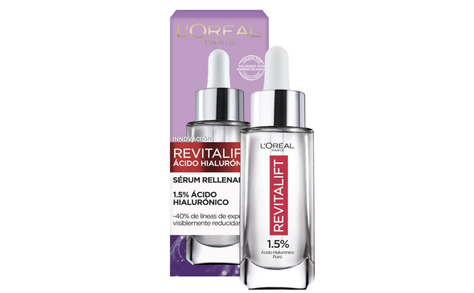 L'Oreal Paris Serum Facial Anti Arrugas Acido Hialuronico Revitalift. Foto: amazon.com.mx