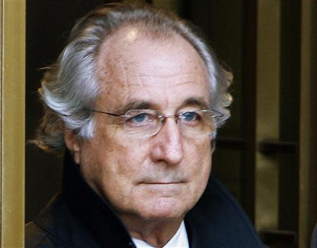 Bernard Madoff exits the Manhattan federal court house in New York in this January 14, 2009 file photo. REUTERS/Brendan McDermid