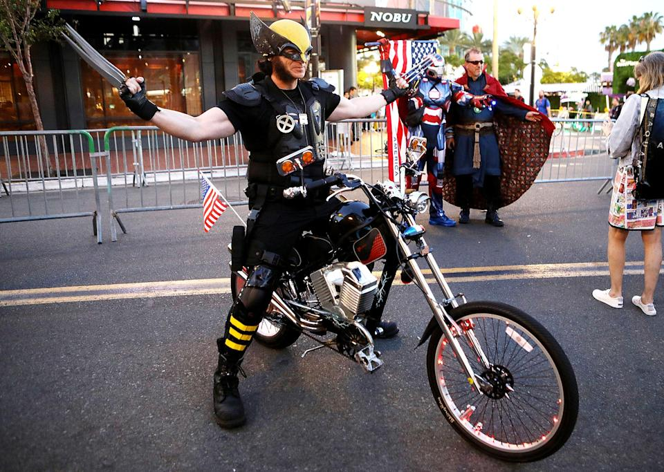<p>Cosplayer dressed as Wolverine at 2018 Comic-Con International on July 20, 2018, in San Diego. (Photo: Mario Tama/Getty Images) </p>