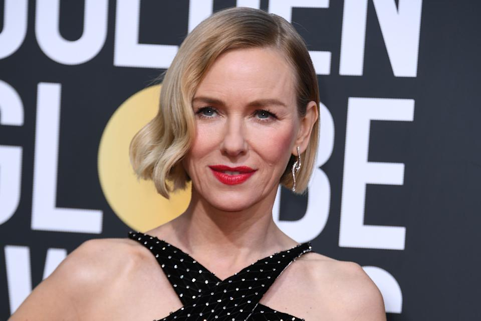 Actress Naomi Watts arrives for the 77th annual Golden Globe Awards on January 5, 2020, at The Beverly Hilton hotel in Beverly Hills, California. (Photo by VALERIE MACON / AFP) (Photo by VALERIE MACON/AFP via Getty Images)
