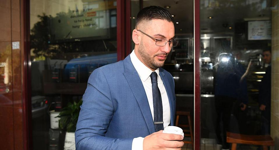 Salim Mehajer during a break at the Downing Centre Local Courts in Sydney. Source: AAP
