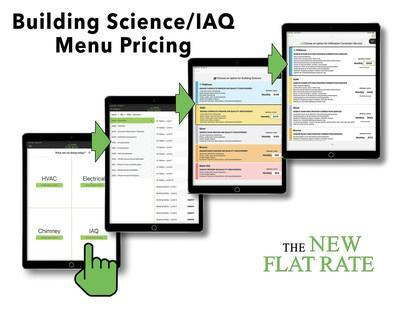 The New Flat Rate is taking steps to add a new building science indoor air quality section to their world-class menu pricing system.