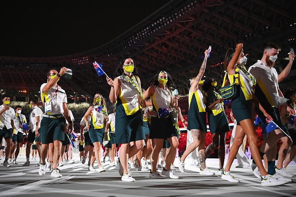 <p>Australia went with a look we'll call 'Girl Scout Chic.' </p>