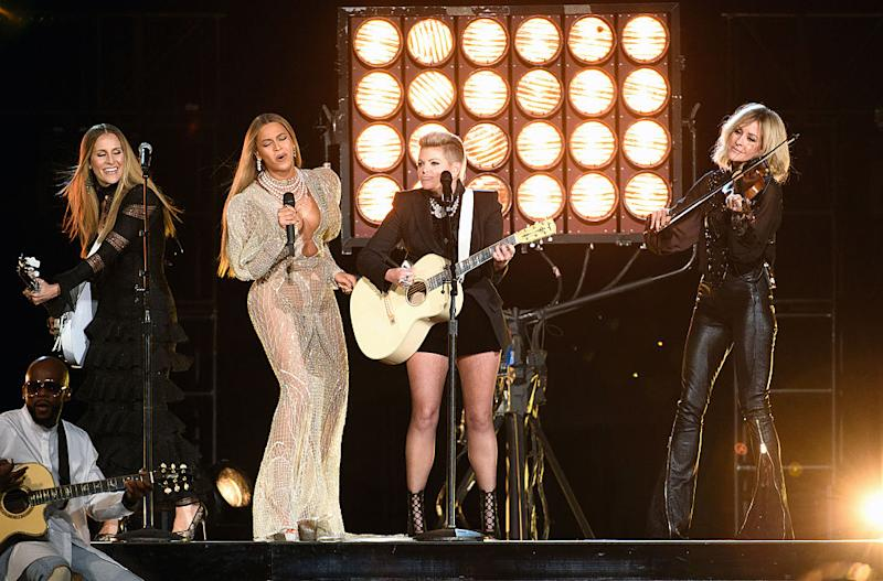 The Chicks performed with Beyoncé at the 2016 CMA Awards. (Photo: Image Group LA/Walt Disney Television via Getty Images)