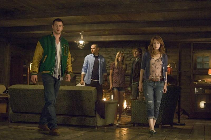 Chris Hemsworth and Kristen Connolly in The Cabin In The Woods