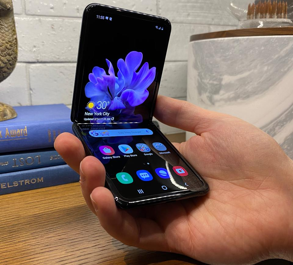 Samsung's Galaxy Z Flip has a fantastic design and styling that makes it the first truly appealing foldable smartphone. (Image: Howley)