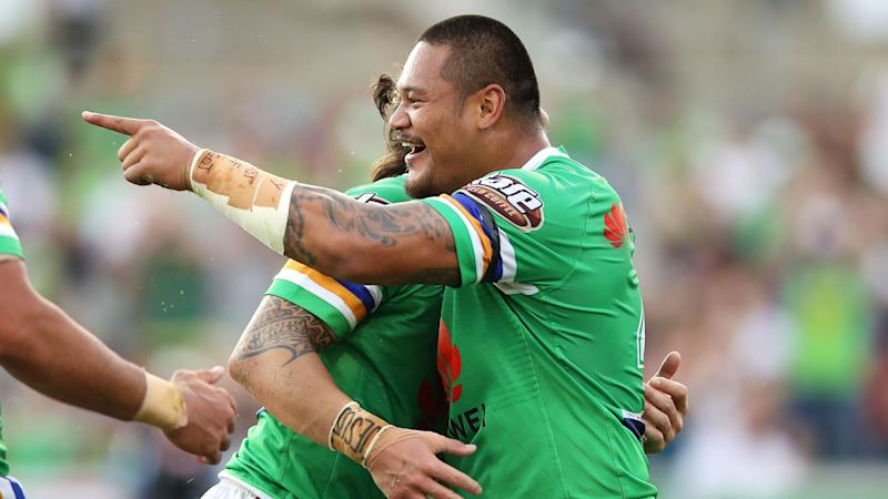 Leilua brace downs Broncos as Raiders keep pace at NRL summit