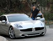 <p>Leonardo DiCaprio seen driving the new 2012 Fisker Karma on August 17, 2011 in Los Angeles, California. </p>