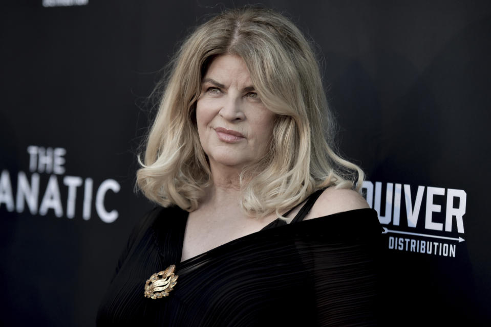 "Come Jon Voight, anche Kirstie Alley, protagonista di ""Senti chi parla"", ha sempre sostenuto Trump sui social. (Photo by Richard Shotwell/Invision/AP)"
