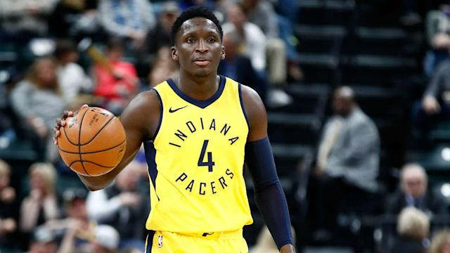 Victor Oladipo is nearing a return from a ruptured quad tendon in his right knee sustained last season.