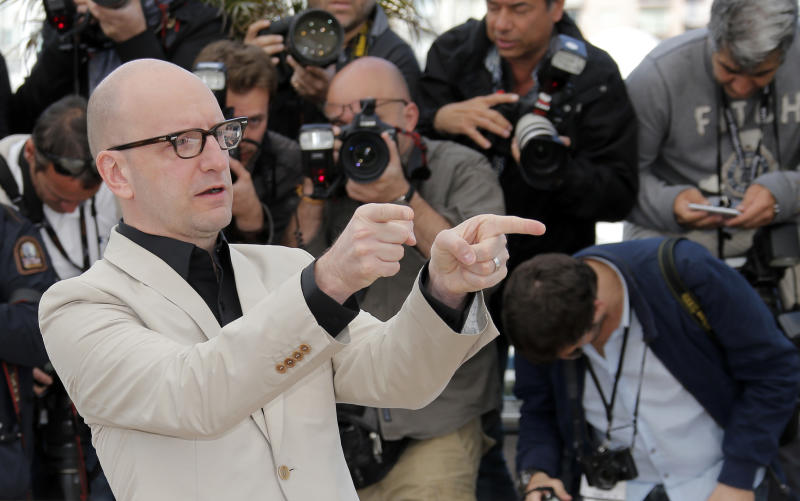 Director Steven Soderbergh poses for photographers during a photo call for the film Behind the Candelabra  at the 66th international film festival, in Cannes, southern France, Tuesday, May 21, 2013. (AP Photo/Lionel Cironneau)