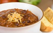 """<p>This warm chili is served at Soldier Field, the home of the Chicago Bears — <a href=""""https://www.theactivetimes.com/featured/most-popular-nfl-teams-america?referrer=yahoo&category=beauty_food&include_utm=1&utm_medium=referral&utm_source=yahoo&utm_campaign=feed"""" rel=""""nofollow noopener"""" target=""""_blank"""" data-ylk=""""slk:the most popular NFL team in Illinois"""" class=""""link rapid-noclick-resp"""">the most popular NFL team in Illinois</a>. It's perfect if you're trying to keep yourself warm during the cold winter months.</p> <p><a href=""""https://www.thedailymeal.com/recipes/bears-chili-recipe?referrer=yahoo&category=beauty_food&include_utm=1&utm_medium=referral&utm_source=yahoo&utm_campaign=feed"""" rel=""""nofollow noopener"""" target=""""_blank"""" data-ylk=""""slk:For the Bears Chili recipe, click here"""" class=""""link rapid-noclick-resp"""">For the Bears Chili recipe, click here</a>.</p>"""