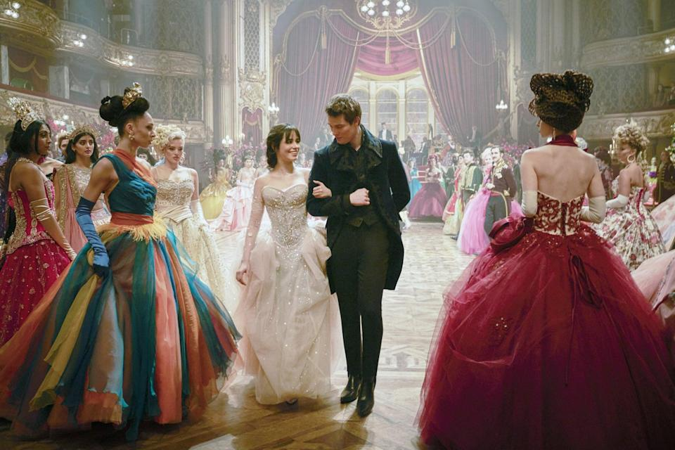"""<p>Women empowerment is a clear overarching theme of <strong>Cinderella</strong>. With that in mind, Martin said, """"In this film, we don't have ugly sisters - we're not here to put women down."""" That sentiment is upheld in Cinderella's (played by Camila Cabello) attitude about the ball and the prospect of meeting a prince. """"The beauty of this Cinderella is she wants a life,"""" said Martin. """"She wants to do something with her life. She's not necessarily just waiting for the prince. She's more waiting for an opportunity.""""</p> <p>That theme granted Martin permission to really expand on what the women in this fairy tale looked like. """"Our women could look strong; our women could look fierce, and that's what I set out to do,"""" she said. """"[I wanted] bold looks for them, not just the nicely blushing, fainting [look] just because a beautiful man speaks to them or something like that.""""</p>"""
