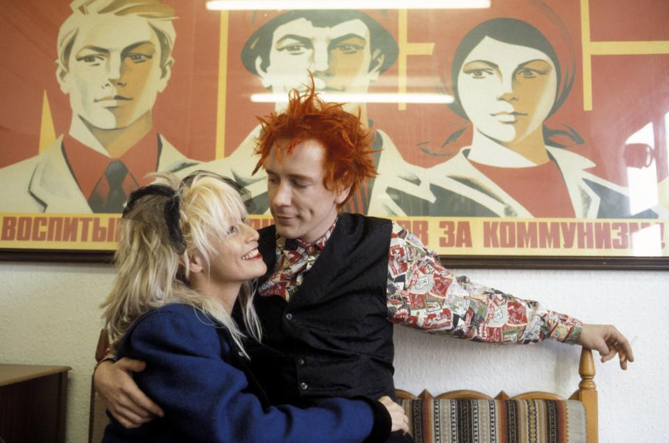 John Lydon and Nora Forster in the late '70s. (Photo: Fin Costello/Redferns)