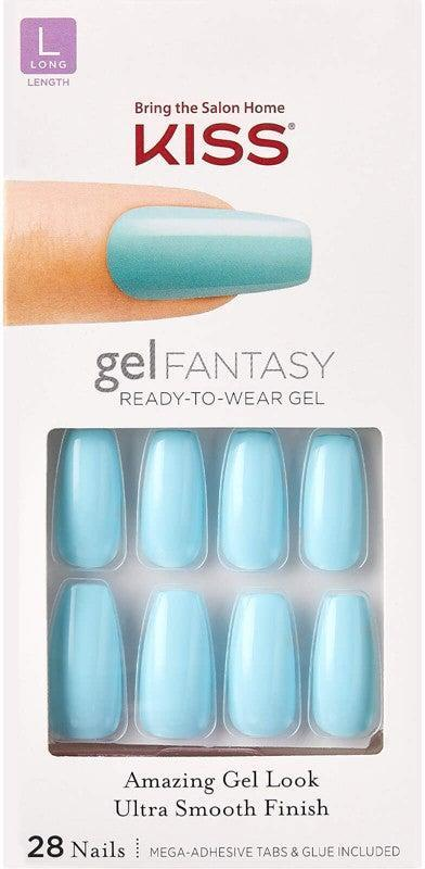 """<h2>Kiss Get There Gel Fantasy Nails</h2> <br>The Kiss Gel Fantasy range is the next best thing to an actual gel mani. It comes with adhesive tabs and glue, so you can choose how you stick on your tips. Plus, you can pick from shiny coffin nails (like these), pointed tips with a matte finish, or short-square shapes.<br><br><strong>Kiss</strong> Kiss Get There Gel Fantasy Nails, $, available at <a href=""""https://go.skimresources.com/?id=30283X879131&url=https%3A%2F%2Fwww.ulta.com%2Fget-there-gel-fantasy-nails%3FproductId%3Dpimprod2013639"""" rel=""""nofollow noopener"""" target=""""_blank"""" data-ylk=""""slk:Ulta Beauty"""" class=""""link rapid-noclick-resp"""">Ulta Beauty</a><br>"""