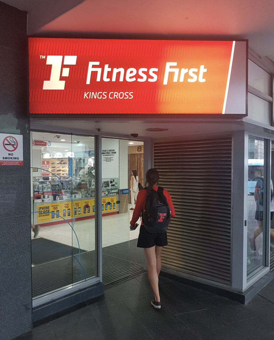 Fitness First gym in Kings Cross said someone who attended the gym for a class on July 20 has tested positive. Source: Google Maps/Gordon Campbell