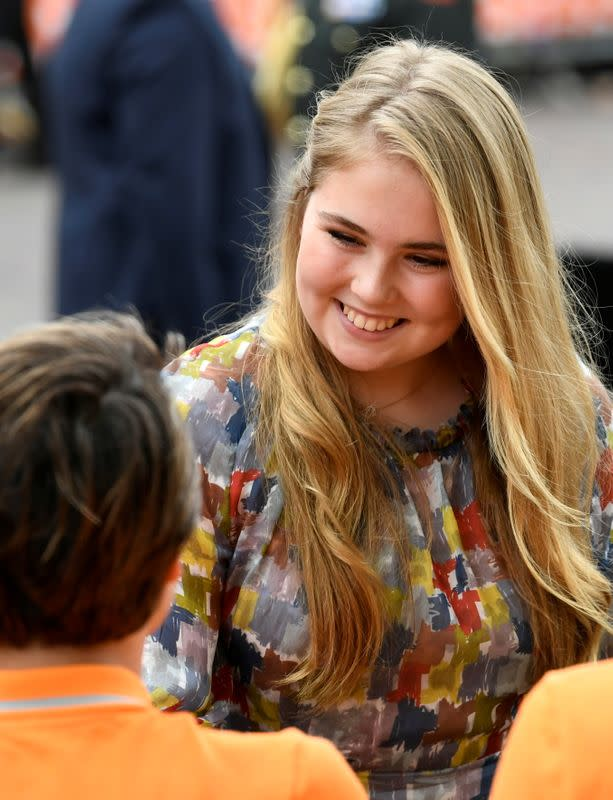 FILE PHOTO: Princess Catharina-Amalia of the Netherlands greets people during the King's Day in Amersfoort, Netherlands April 27, 201