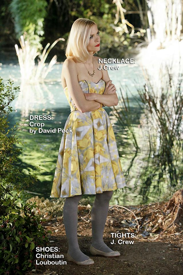 "Jaime King as Lemon Breeland in the Season 1 episode ""Tributes and Triangles."""