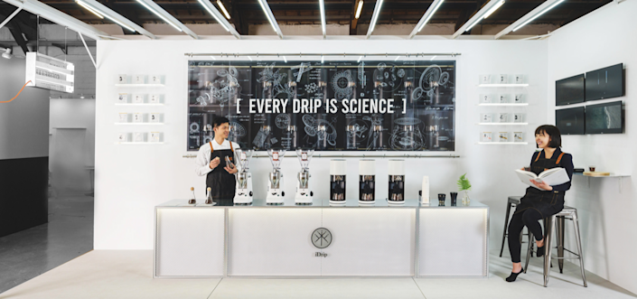 iDrip and 3+2's Smart Pour-Over Coffeemaker Exhibition Space