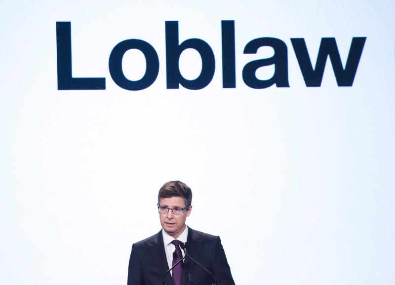 Galen G. Weston CEO, chairman and president of Loblaw Companies Limited speaks during the company's annual general meeting in Toronto on Thursday, May 3, 2018. THE CANADIAN PRESS/Nathan Denette