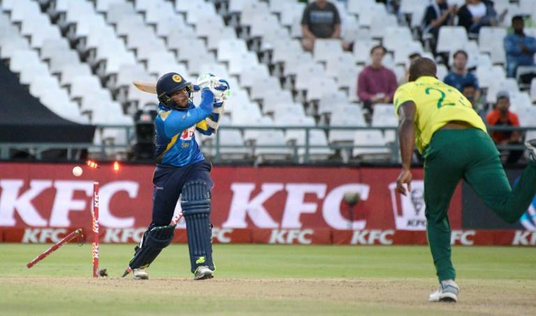 Phehlukwayo took three wickets as Sri Lanka managed just 134 from their 20 overs