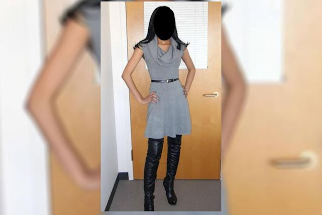 A teacher was criticized for wearing this outfit. (Photo: Mojo in the Morning via Facebook)