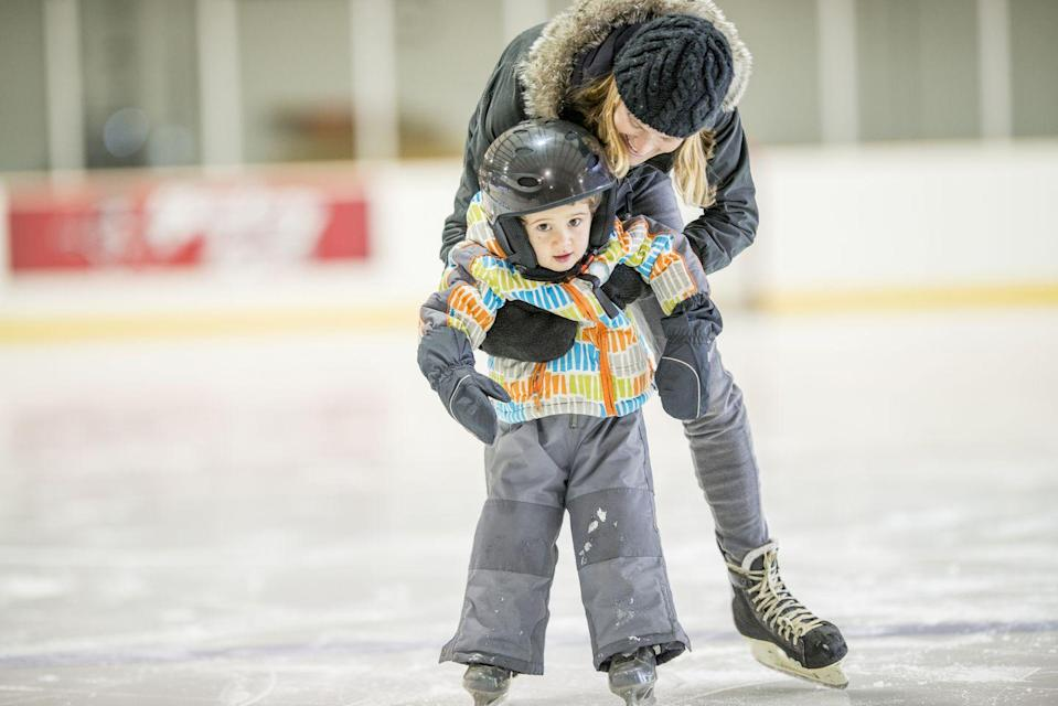 <p>The first date I ever went on was to a local ice skating rink, and I won't tell you what the soundtrack was, lest you learn how long ago that was. Ice skating will help you work up a sweat and learn a new skill, even if you start out about as graceful as an elephant on ice. </p>