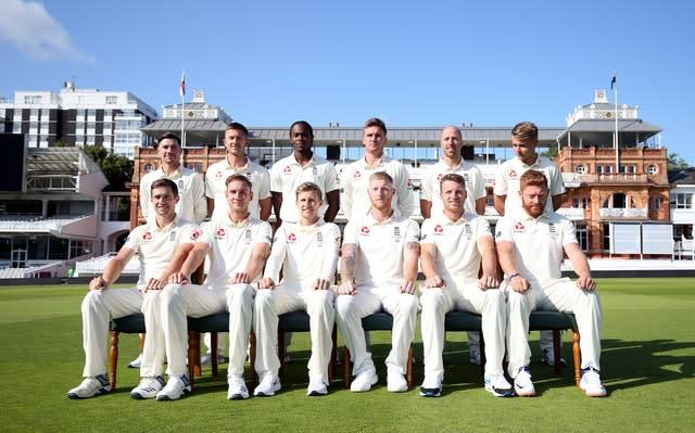 The England squad hoping to level the Ashes series at Lord's this week (Steven Paston/PA)